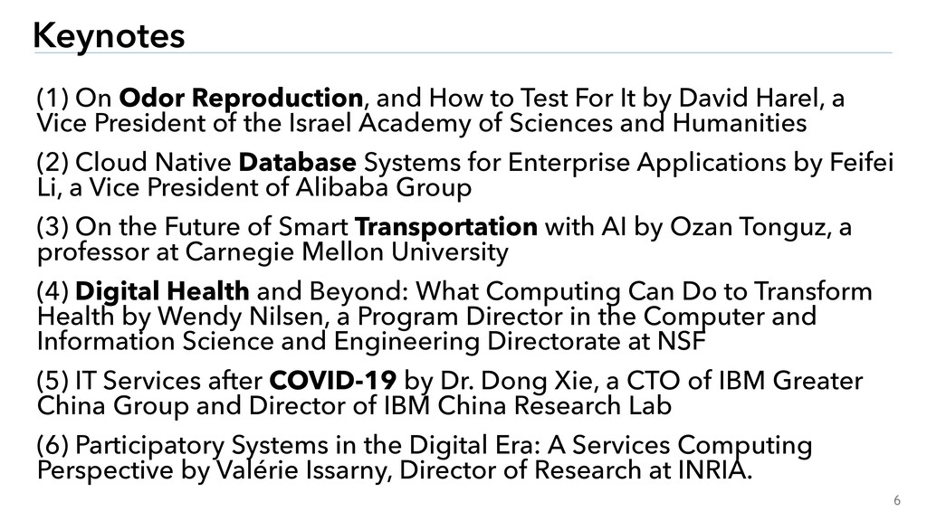 6 Keynotes (1) On Odor Reproduction, and How to...