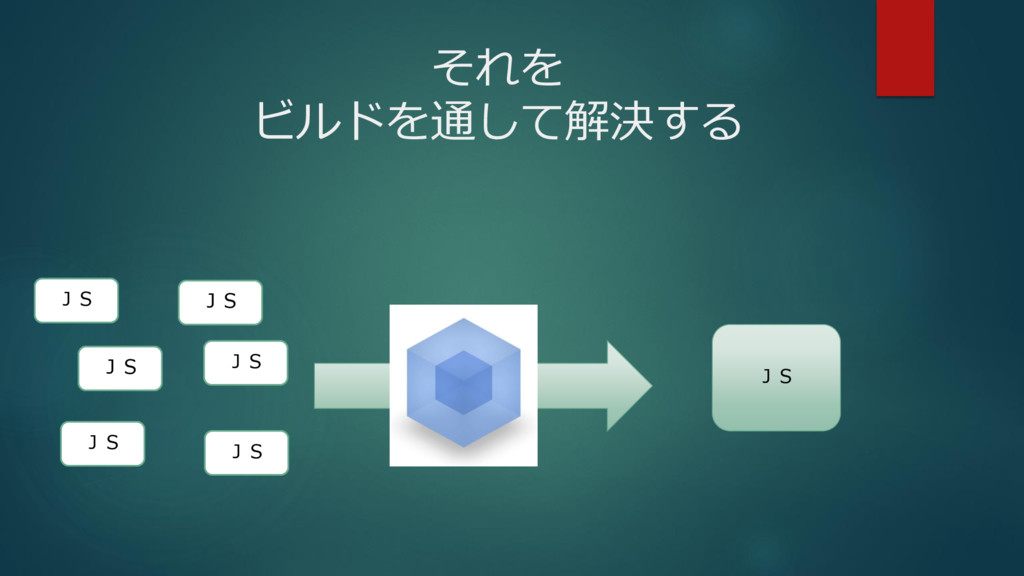 それを ビルドを通して解決する JS JS JS JS JS JS JS