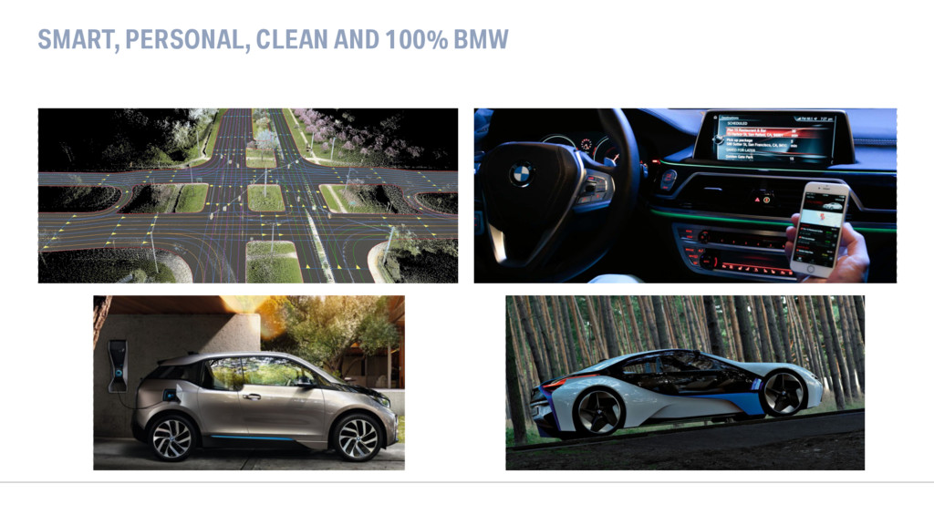 SMART, PERSONAL, CLEAN AND 100% BMW