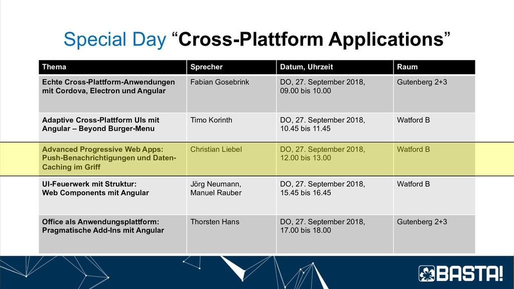 """Special Day """"Cross-Plattform Applications"""" Them..."""