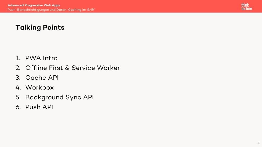 1. PWA Intro 2. Offline First & Service Worker ...