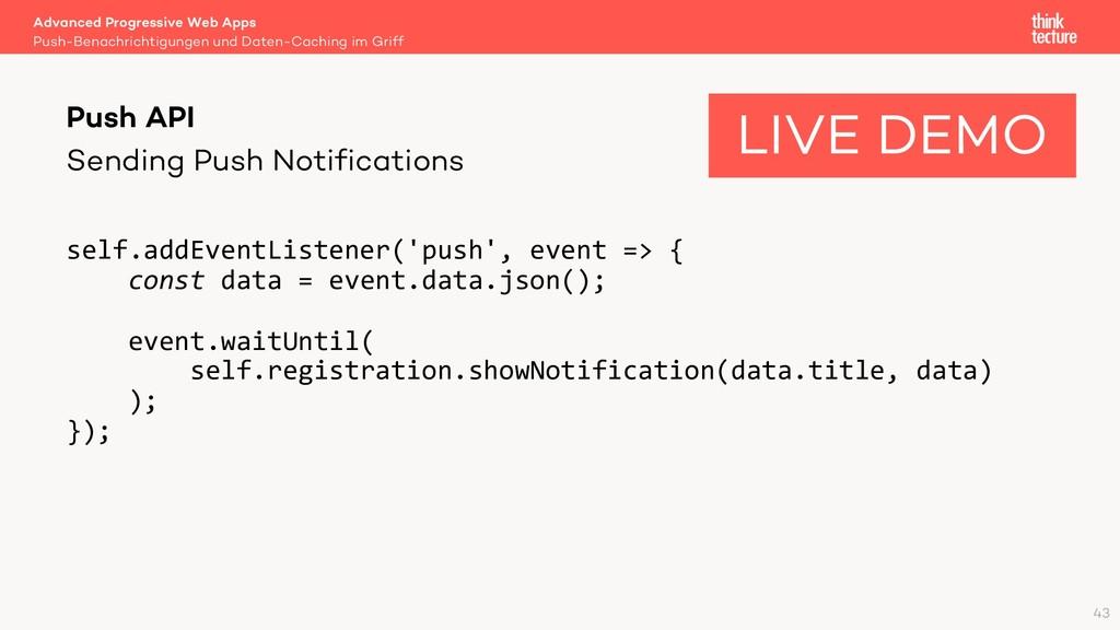 Sending Push Notifications self.addEventListene...
