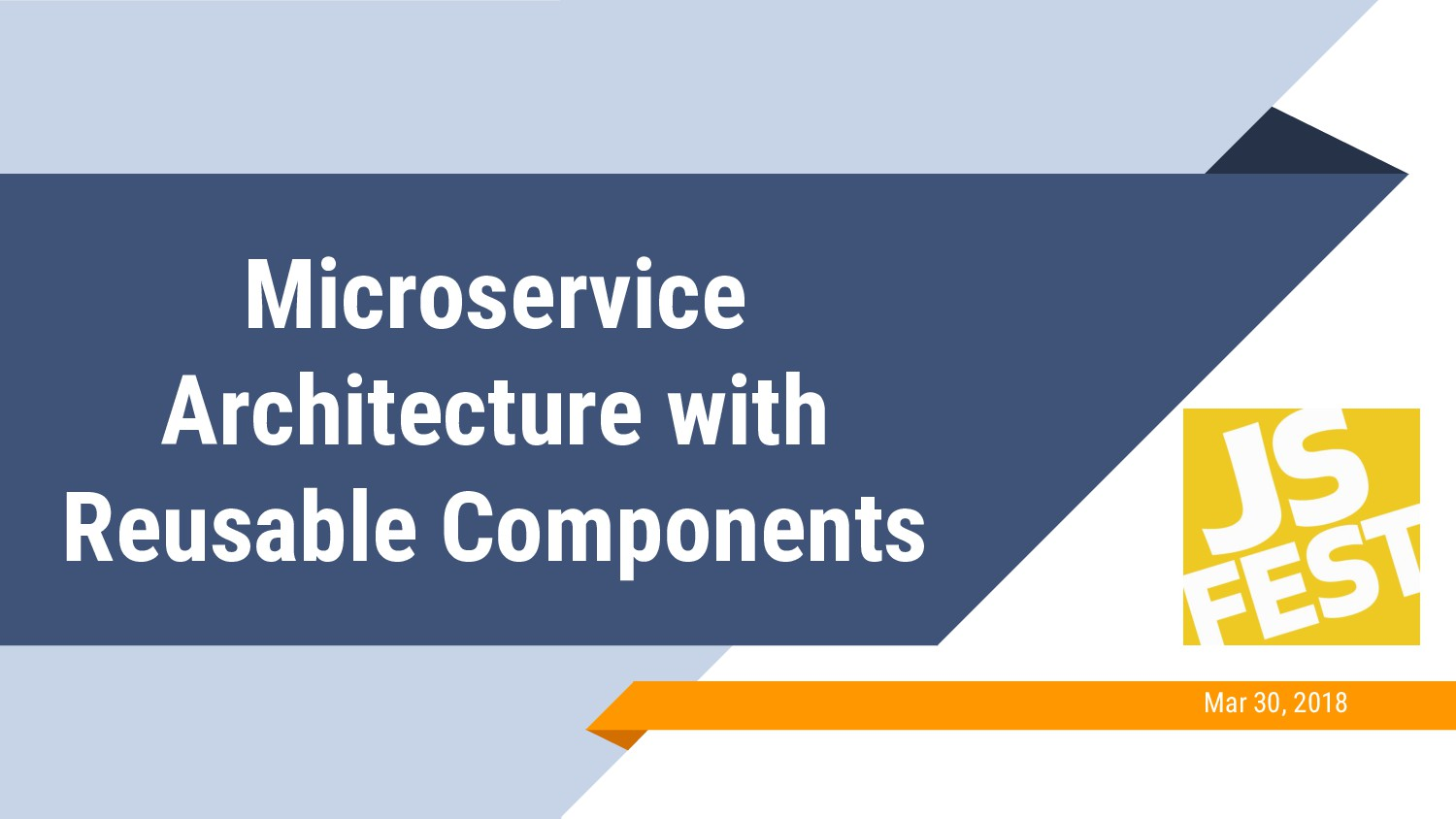 Microservice Architecture with Reusable Compone...