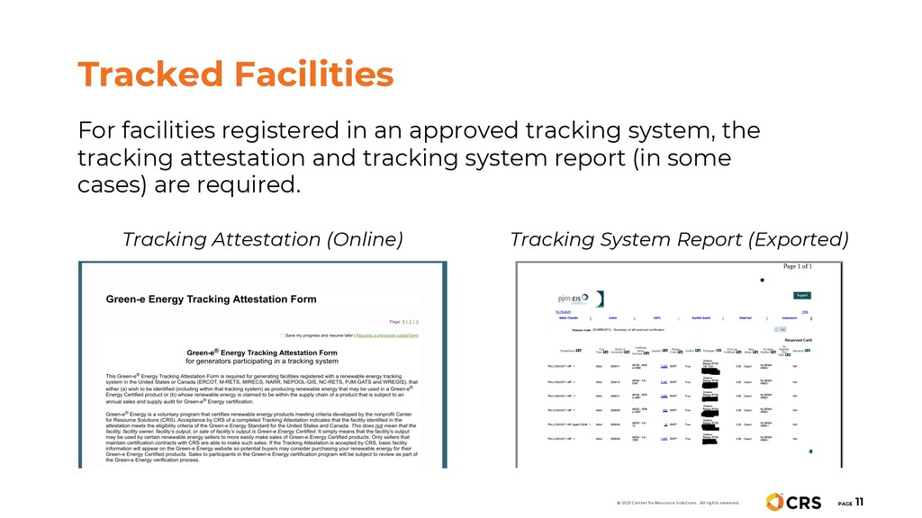 For facilities registered in an approved tracki...