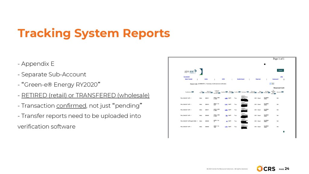 Tracking System Reports - Appendix E - Separate...
