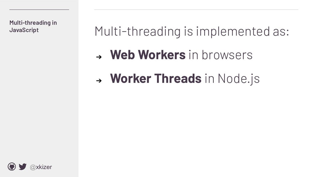 @xkizer Multi-threading is implemented as: ➔ We...