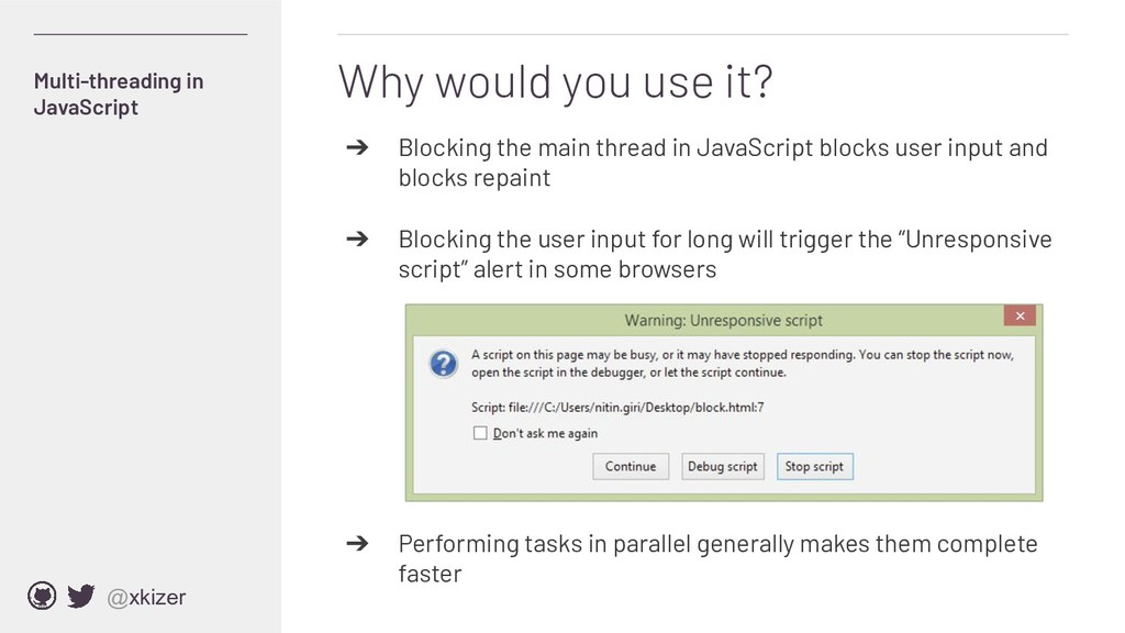 @xkizer ➔ Blocking the main thread in JavaScrip...