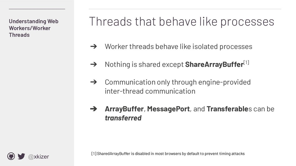 @xkizer Threads that behave like processes ➔ Wo...