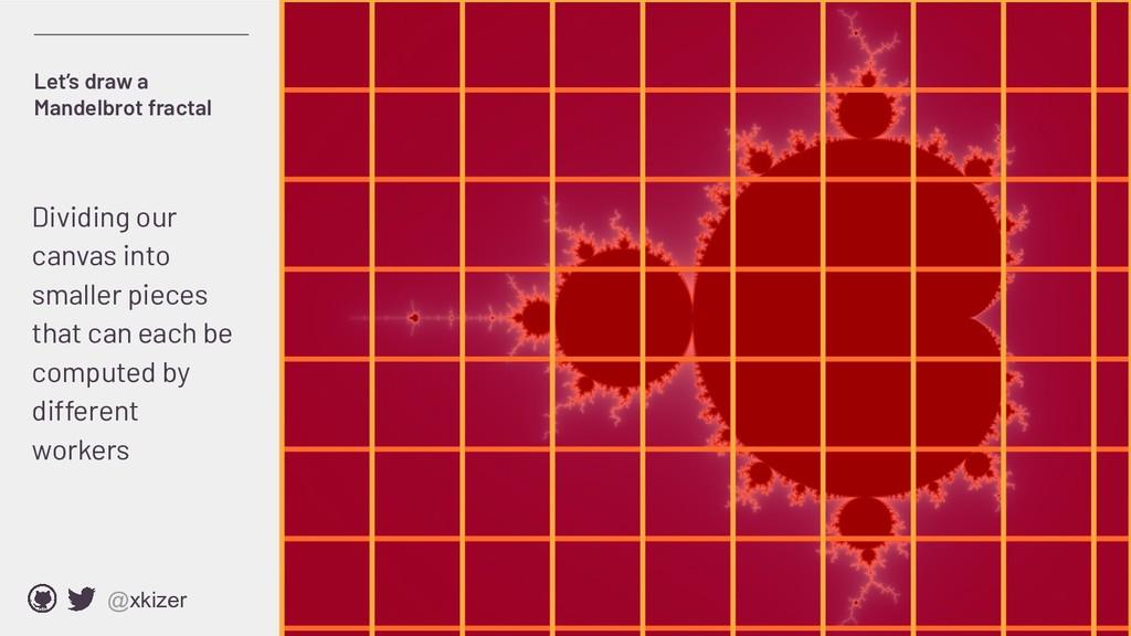 @xkizer Let's draw a Mandelbrot fractal Dividin...