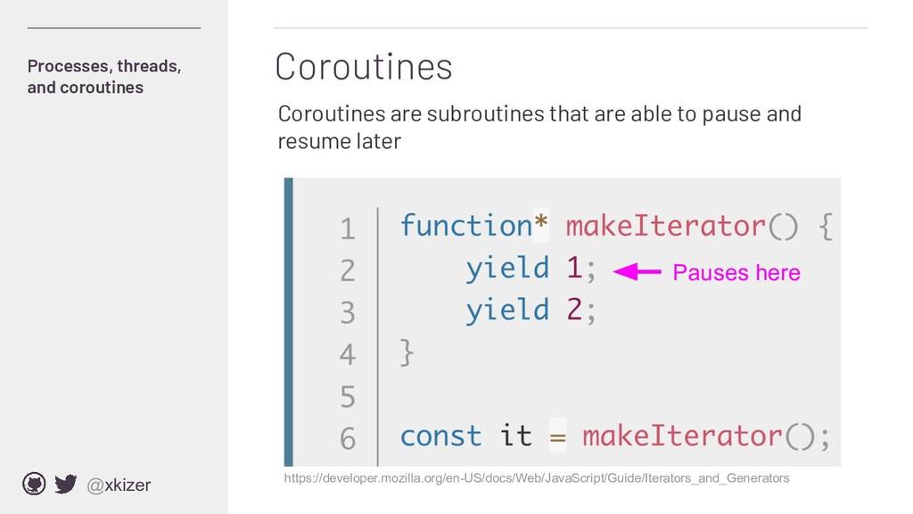 @xkizer Coroutines Processes, threads, and coro...