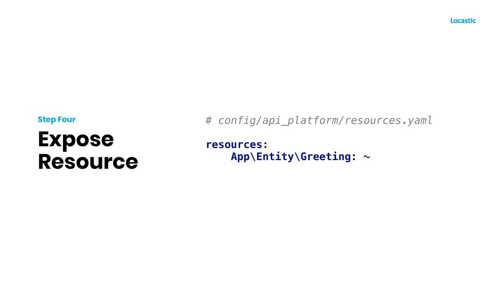 Expose Resource Step Four # config/api_platform...