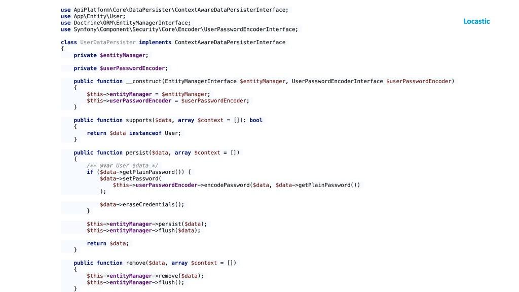 use ApiPlatform\Core\DataPersister\ContextAware...