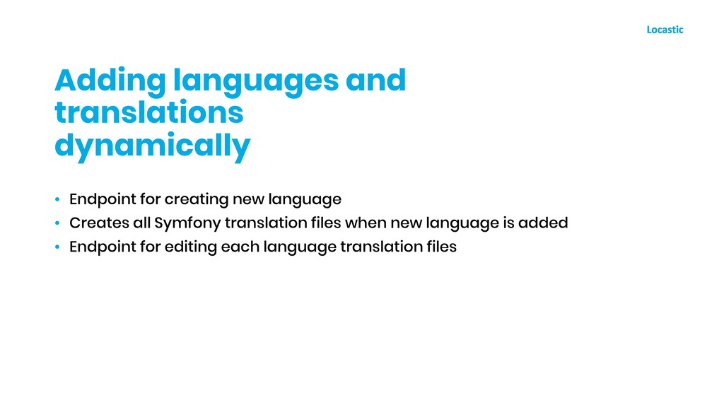 • Endpoint for creating new language • Creates ...