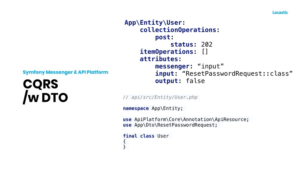 CQRS /w DTO Symfony Messenger & API Platform Ap...