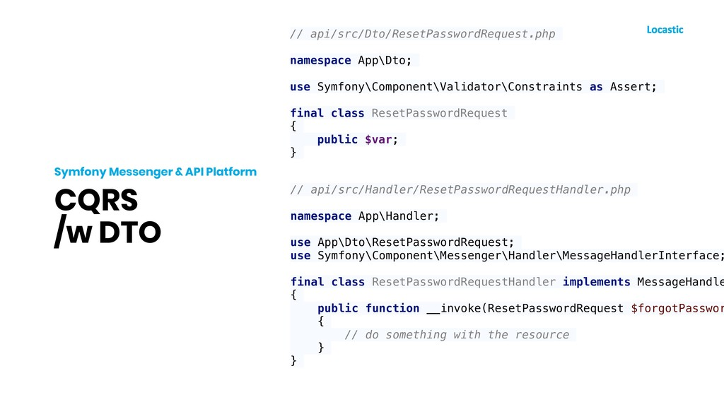 CQRS /w DTO Symfony Messenger & API Platform //...