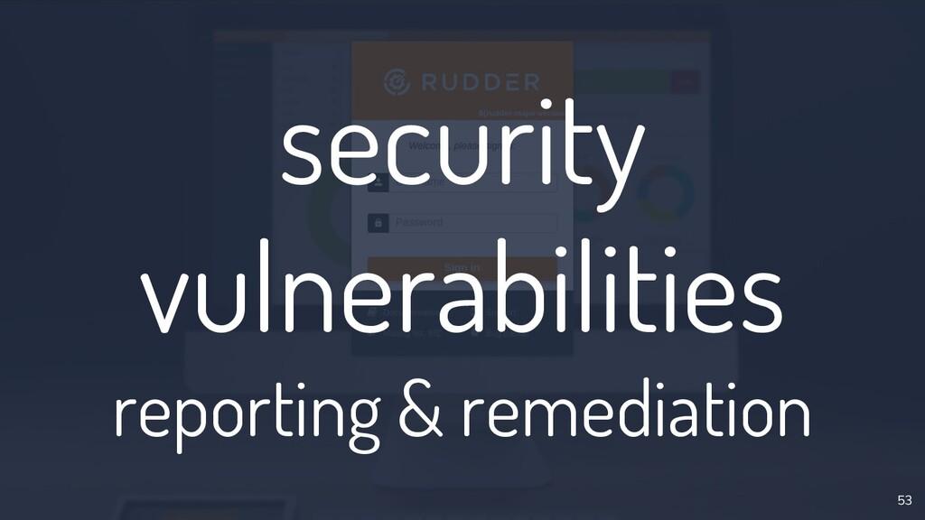 security vulnerabilities reporting & remediatio...