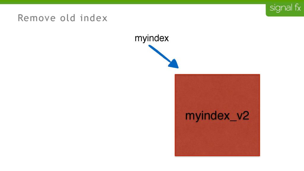 Remove old index myindex myindex_v2