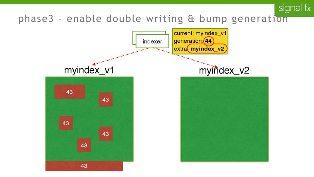phase3 - enable double writing & bump generatio...