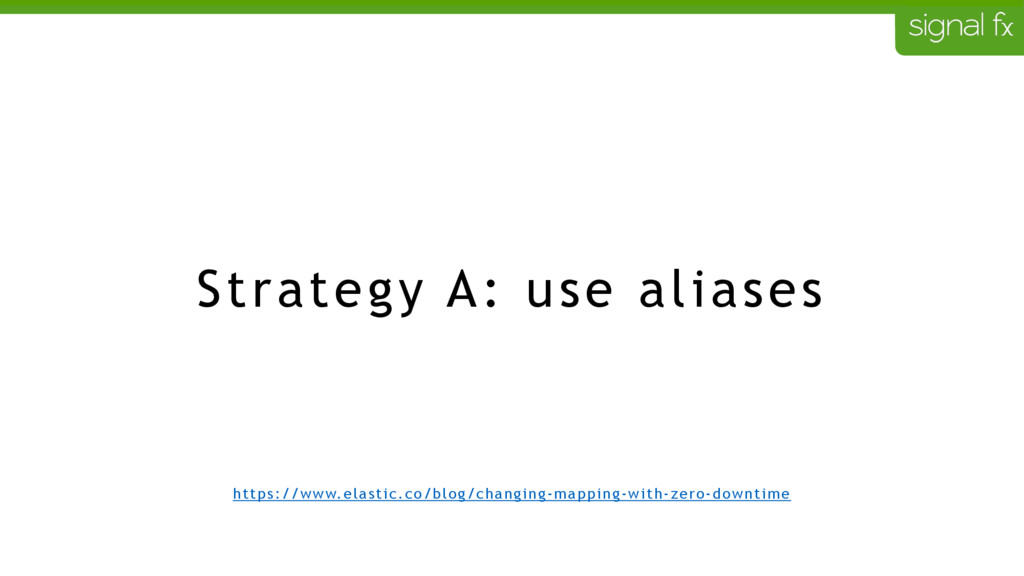 Strategy A: use aliases https://www.elastic.co/...
