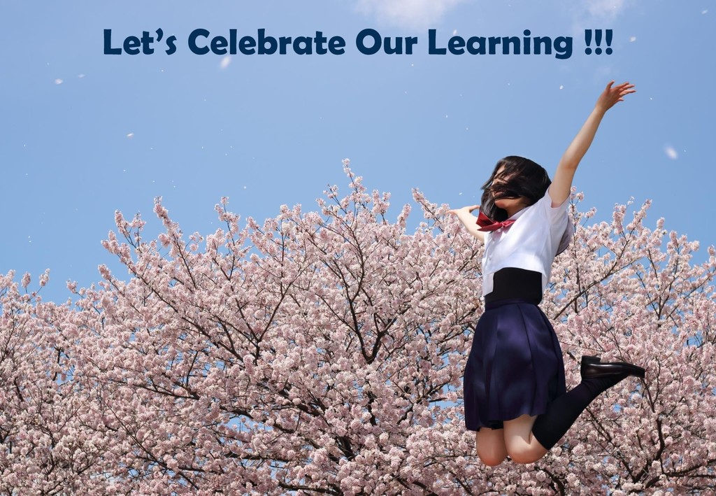 Let's Celebrate Our Learning !!!