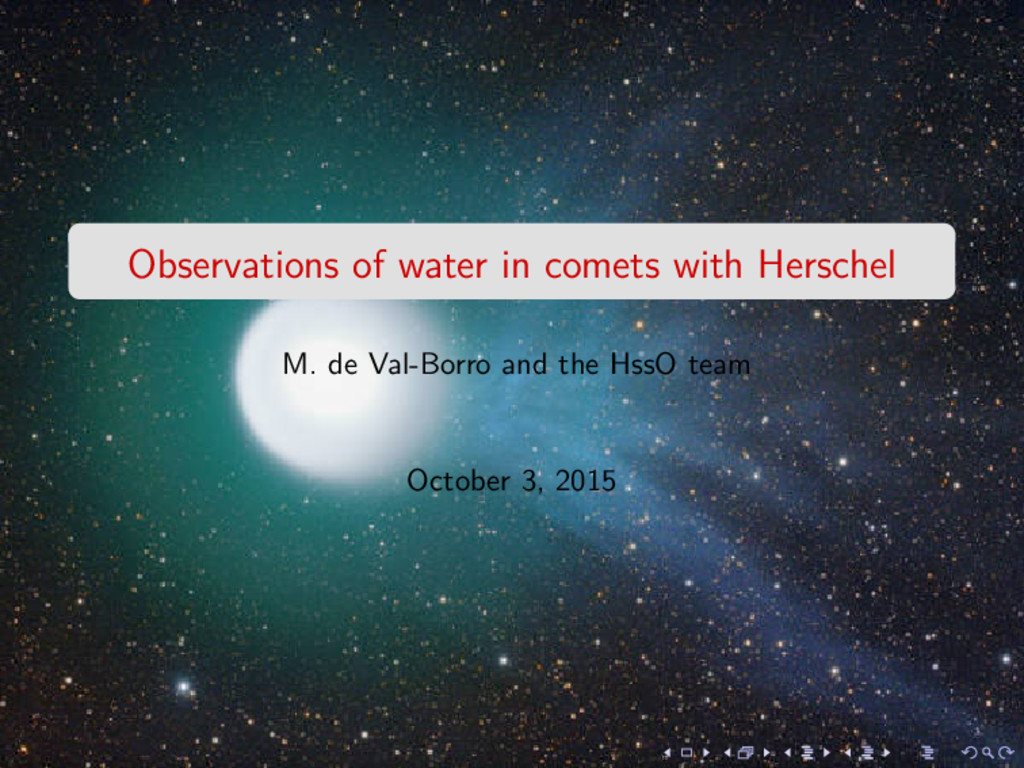 Observations of water in comets with Herschel M...