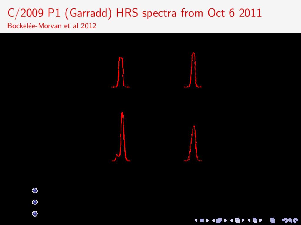 C/2009 P1 (Garradd) HRS spectra from Oct 6 2011...