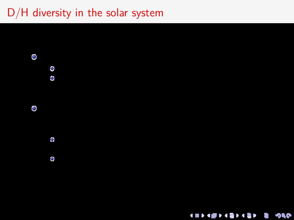 D/H diversity in the solar system Diversity in ...