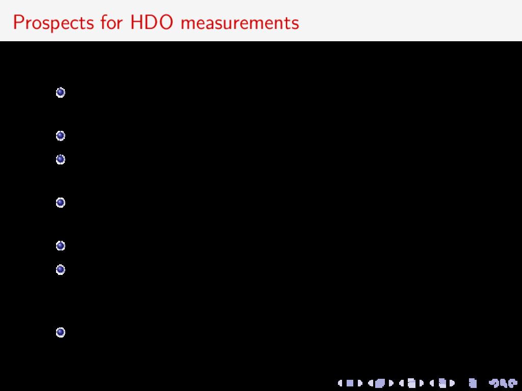 Prospects for HDO measurements HIFI provided un...