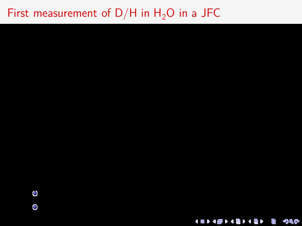 First measurement of D/H in H2 O in a JFC 110–1...
