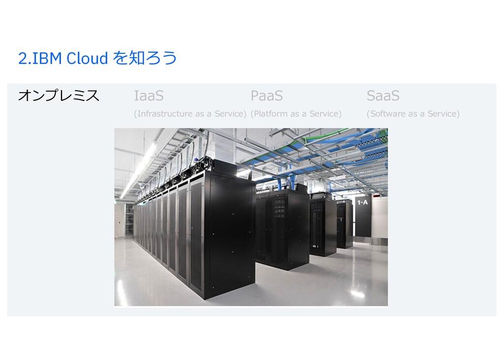 2.IBM Cloud を知ろう オンプレミス IaaS PaaS SaaS (Infrast...