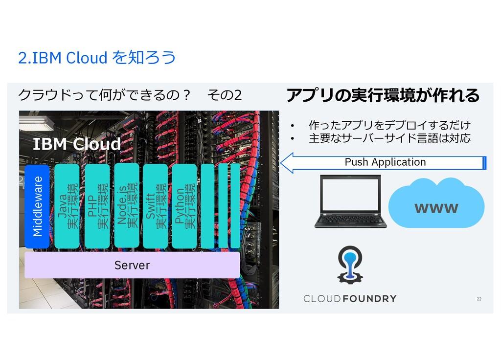 2.IBM Cloud を知ろう クラウドって何ができるの? その2 Grさpoup Name...