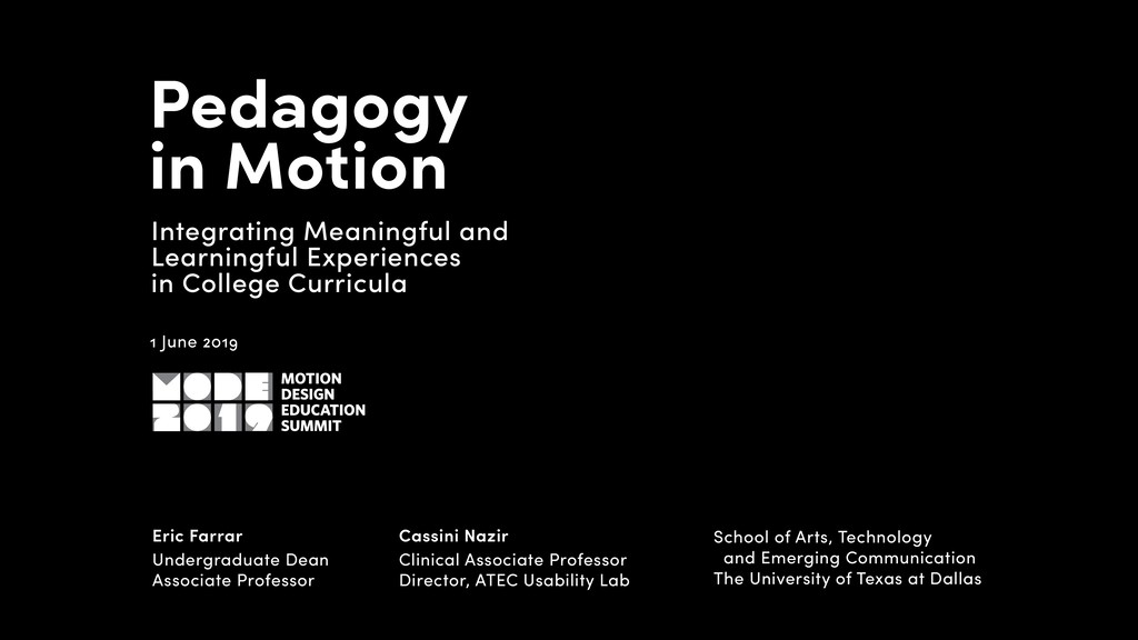 Pedagogy in Motion Integrating Meaningful and ...