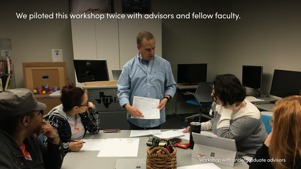 We piloted this workshop twice with advisors an...