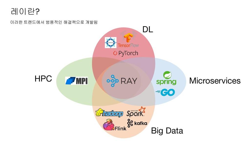 레이란? DL Big Data Microservices HPC 이러한 트렌드에서 범용...