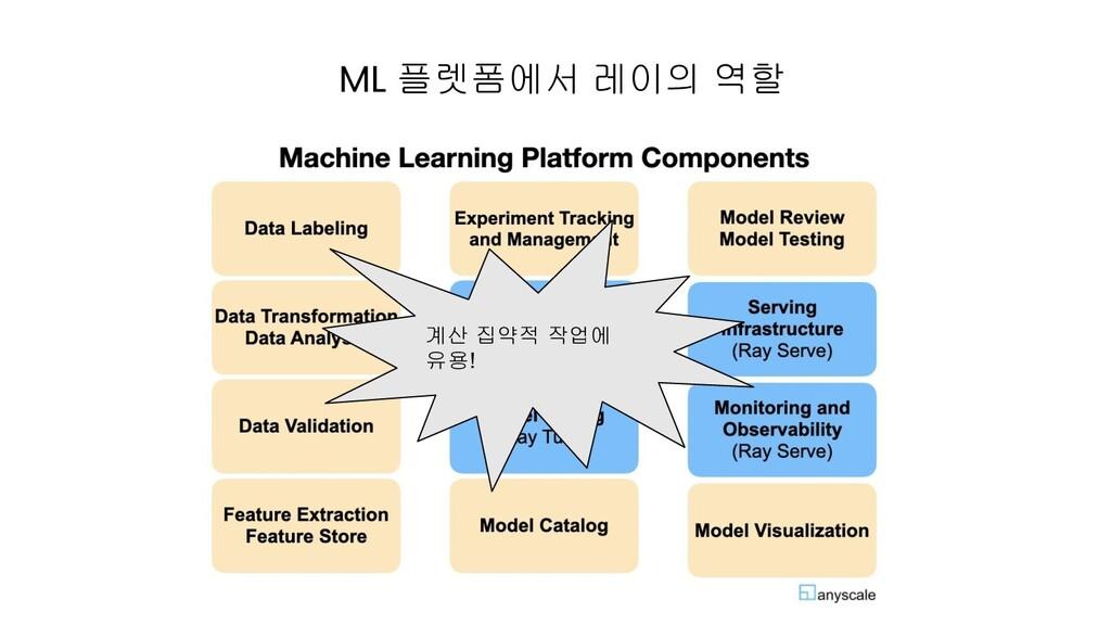 ML 플렛폼에서 레이의 역할 계산 집약적 작업에 유용!