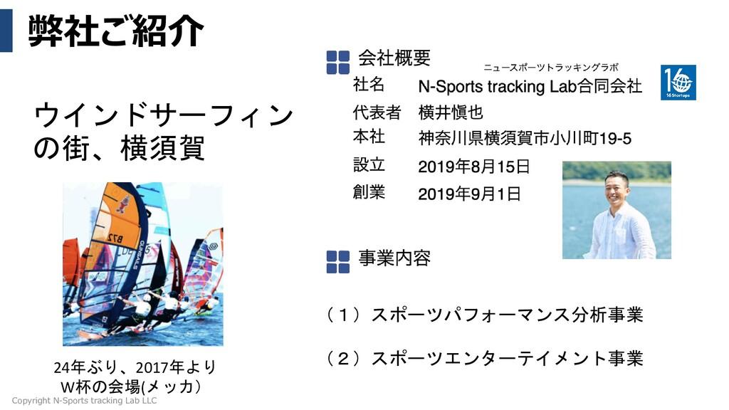 弊社ご紹介 Copyright N-Sports tracking Lab LLC ウインドサ...