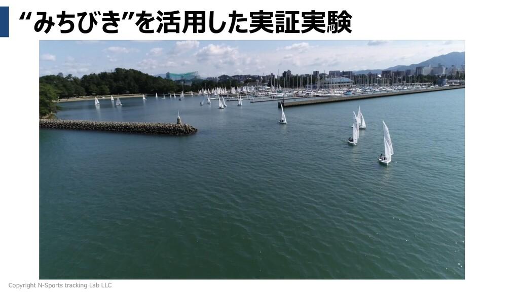 """""""みちびき""""を活用した実証実験 Copyright N-Sports tracking Lab..."""