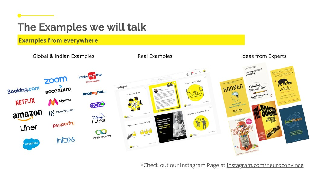 The Examples we will talk Examples from everywh...