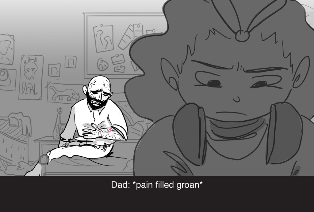 Dad: *pain filled groan*