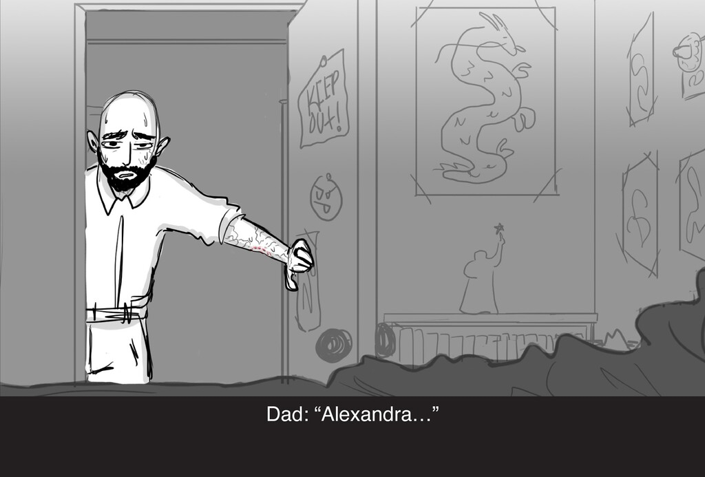 "Dad: ""Alexandra…"""