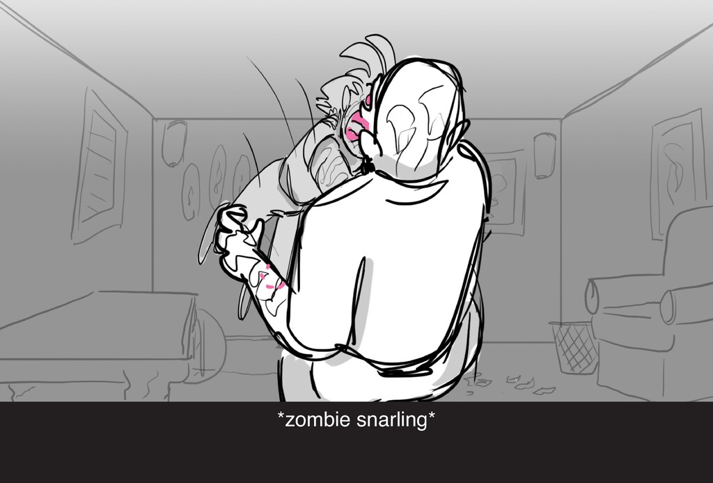 *zombie snarling*