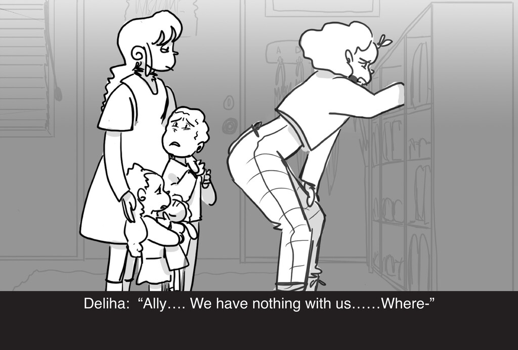 """Deliha: """"Ally…. We have nothing with us……Where-"""""""