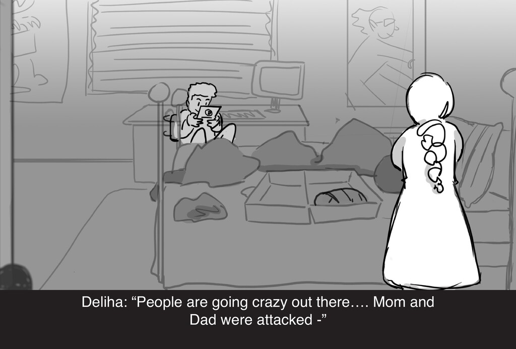 """Deliha: """"People are going crazy out there…. Mom..."""