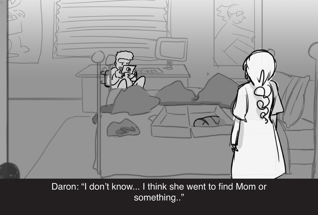 """Daron: """"I don't know... I think she went to fin..."""