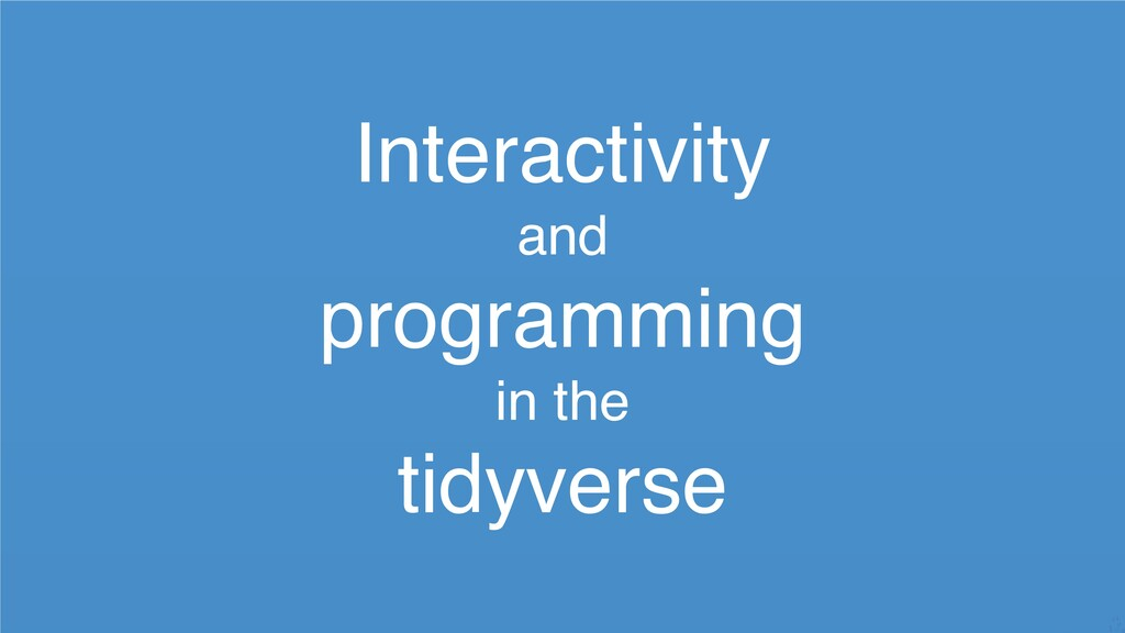 Interactivity