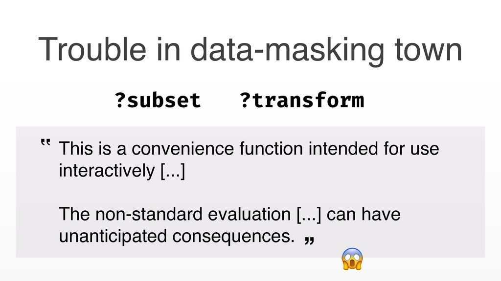 Trouble in data-masking town This is a convenie...