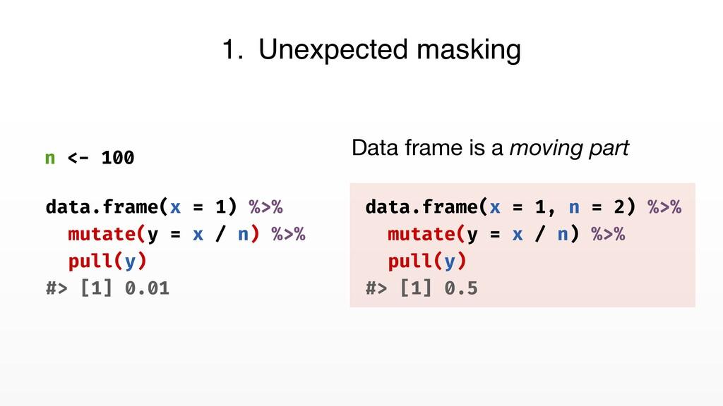 n <- 100 data.frame(x = 1, n = 2) %>% mutate(y ...