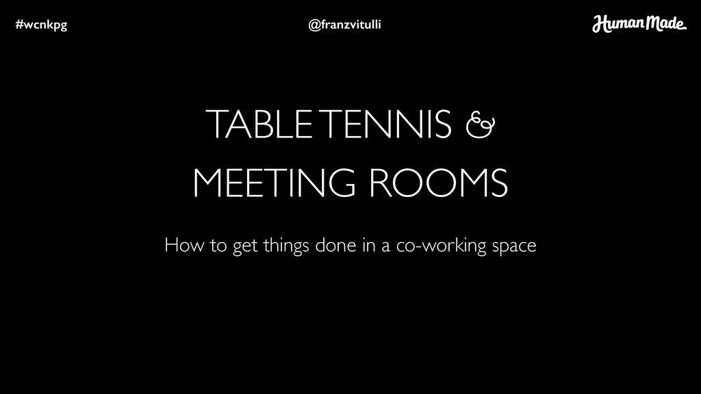 TABLE TENNIS & MEETING ROOMS #wcnkpg @franzvitu...