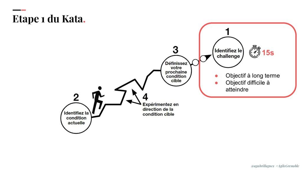 IPPON 2019 Etape 1 du Kata. ● Objectif à long t...