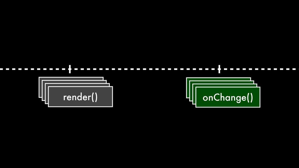 render() onChange()